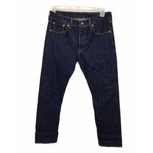 Levi's 501 Original Fit Jeans Sz 30X 30 Dark Blue